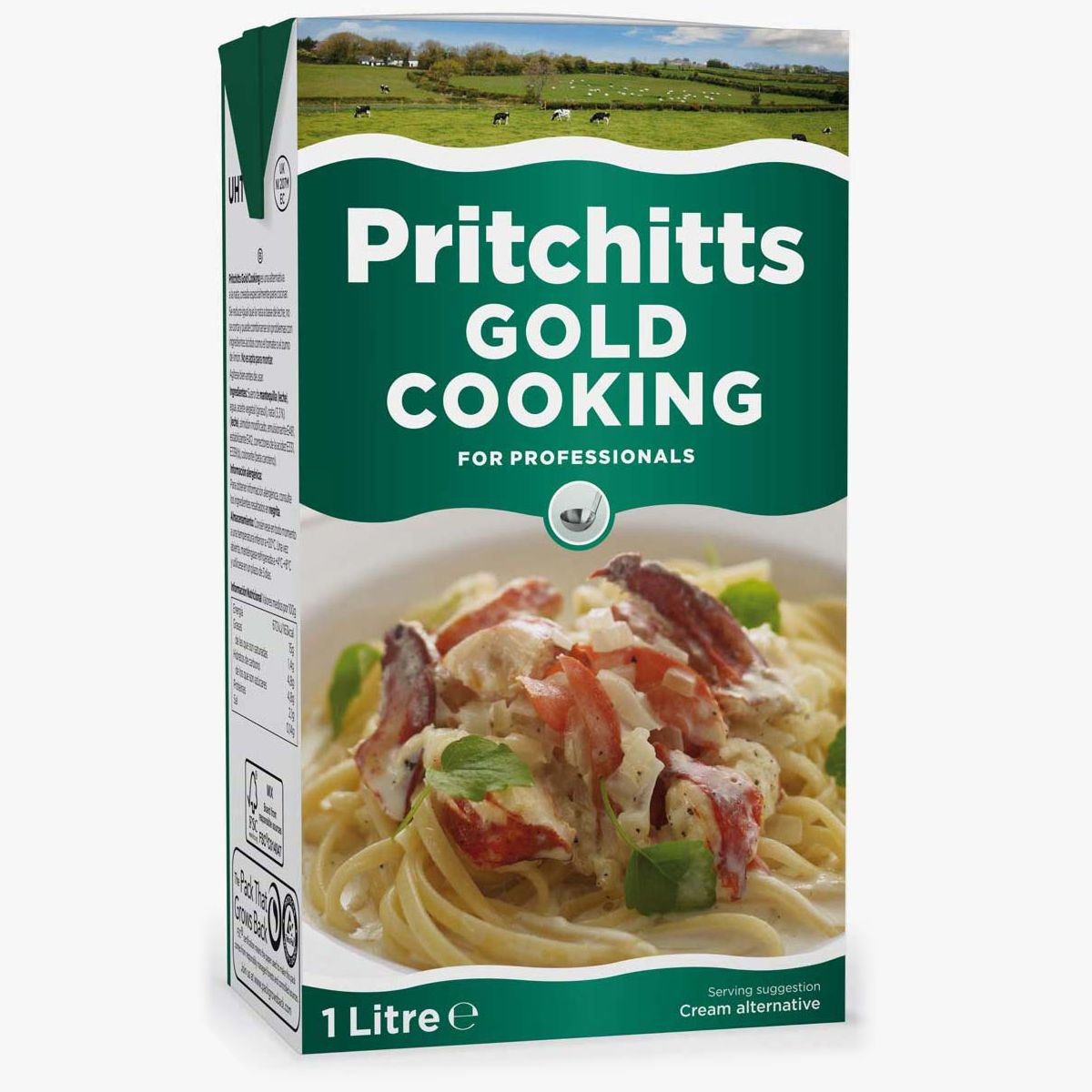 Pritchitts Gold Cooking Cream 15% 1L